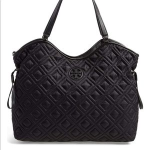Tory Burch Quilted Slouchy Baby Diaper Bag